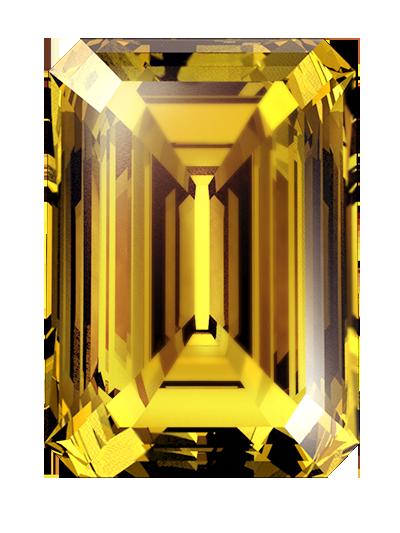Eine einäscherei asche diamant von bernstein farbe und smaragd schnitt aus asche oder haare